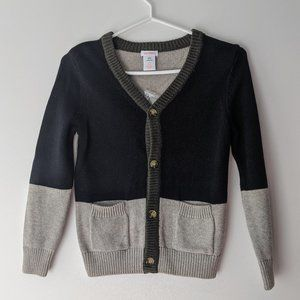 Joe Fresh V-Neck Cardigan Grey Navy Blue Small